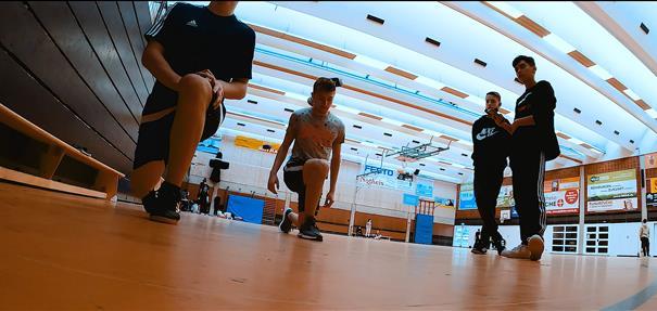 MINT meets Sport – Sportler und NwTler arbeiten an einer gemeinsamen Projektarbeit